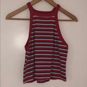 Cotton On cropped striped halter top